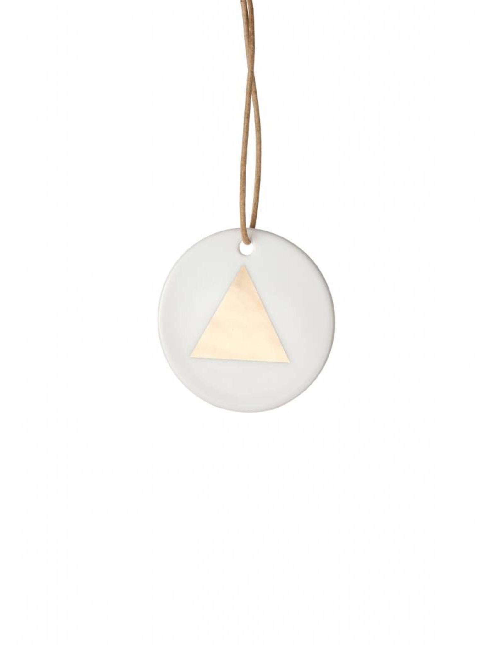 Ferm Living Porcelain Ornament Triangle van Ferm Living
