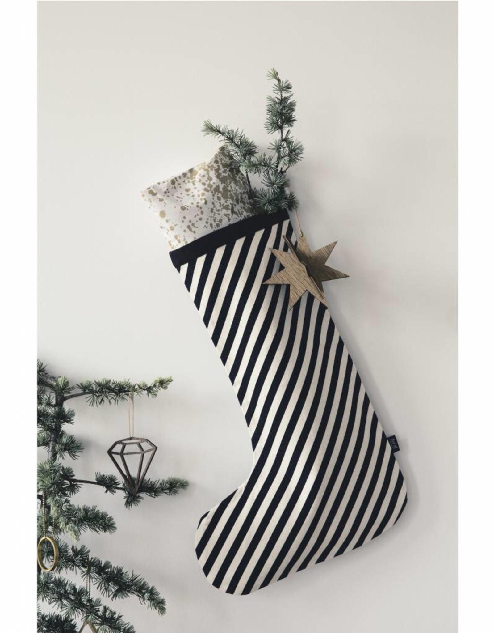 Ferm Living Christmas Stocking Black Stripes