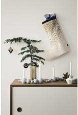 Ferm Living Christmas stocking grey stripes