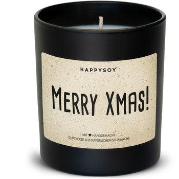 Happysoy Merry Xmas Kerze