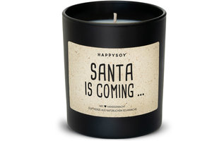 Happysoy Santa is coming Kerze