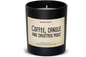 Happysoy Coffee, Candle and Christmas Music Kerze