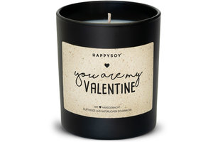 "Happysoy ""You are my Valentine"" Kerze"