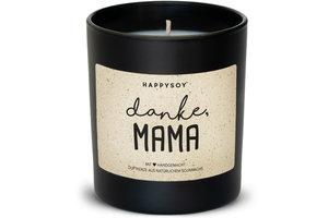 """Happysoy """"Danke Mama"""" Kerze"""