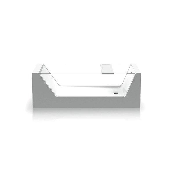 Vrijstaand bad acryl transparant Box