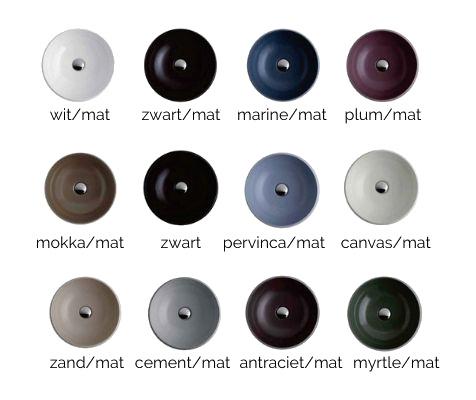 wastafels en waskommen keramiek kleuren