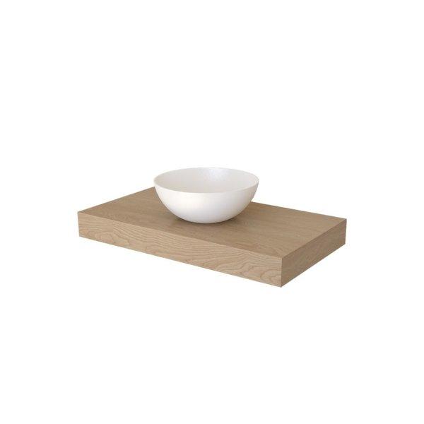 Woodmasters Furniture Wastafelblad massief eiken voor opzetwastafels/waskommen Vlieland