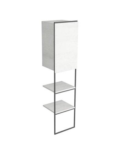 Bathroom column cabinet with 2 shelves + drawer 175 cm