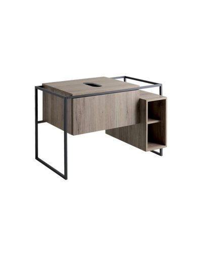 Bathroom cabinet with metal frame and drawer
