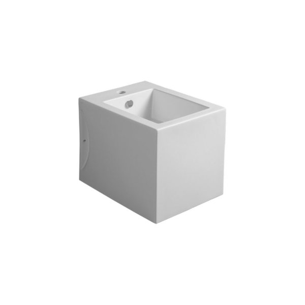 Bidet staand Cube 1-gats in zwart of wit