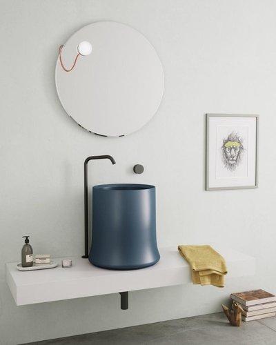 Ronde wasbak opbouw Ø42cm met hoge rand