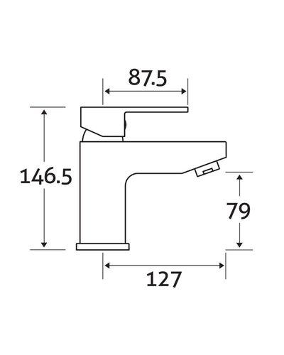 Design wastafelkraan 1-gats chroom - Wilco