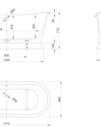 Design bad vrijstaand acryl Lord op Sokkel