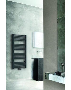 Steel & Brass Tower radiator 119x60cm mat zwart