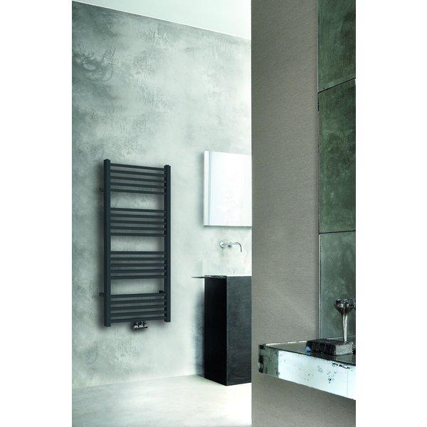 Steel & Brass Tower radiator 119 x 600cm mat zwart