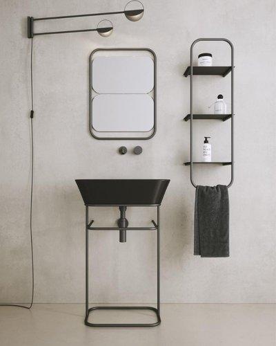 Wandframe Storm met planken voor badkamer