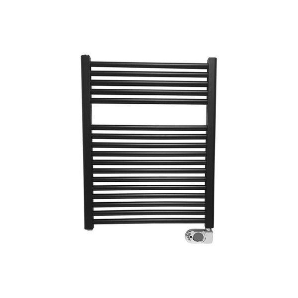 Steel & Brass elektrische radiator 76,6x60cm mat zwart
