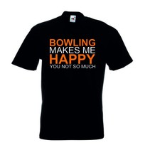 "T-Shirt ""Bowling makes me Happy"""