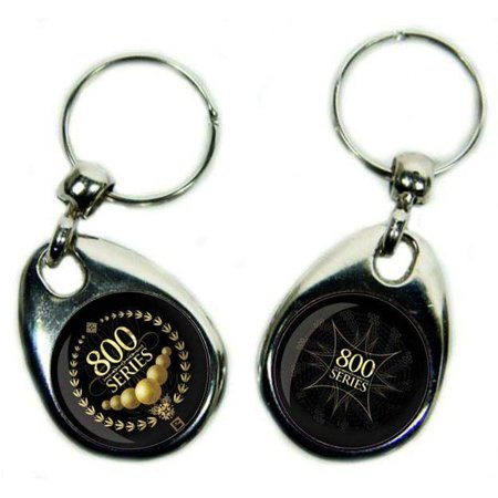 BowlingShopEurope Round Metal Key Chain with Double Picture