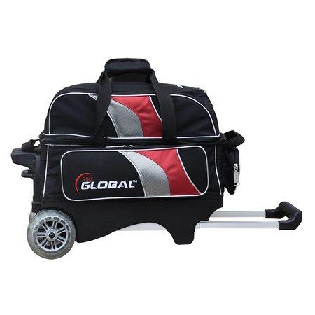 900 Global 2 Ball Roller Deluxe Zwart/Rood/Zilver