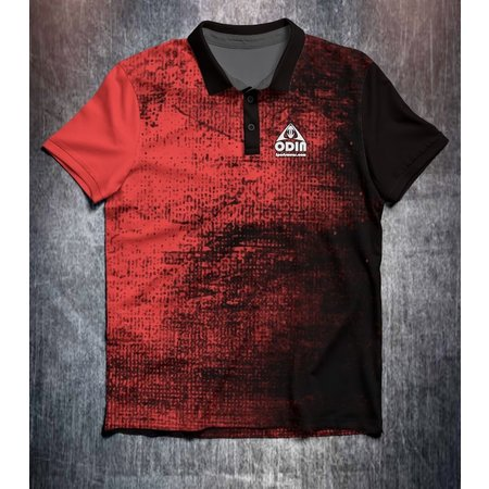 Odin Sportswear Black Red Grunge