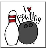 "BowlingShopEurope Tegeltje ""I Love Bowling"""
