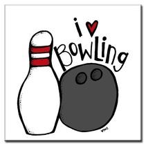 "Tile ""I Love Bowling"""