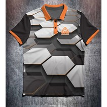 Hexagon Grey Black