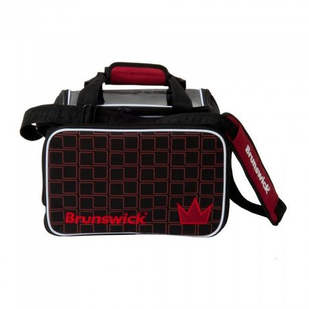 Brunswick Crown Single Tote Schwarz/Rot