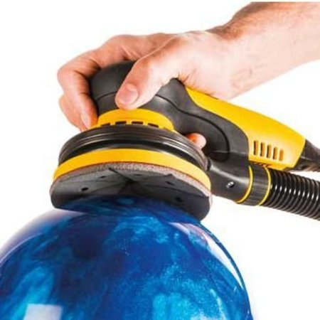 oil removal, sanding and optionally polishing of a bowling ball