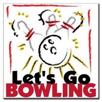 """Bedrukt Tegeltje """"Bowling Art"""""""