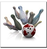 "BowlingShopEurope Bedrukte tegeltjes ""Colorfull Pins"""