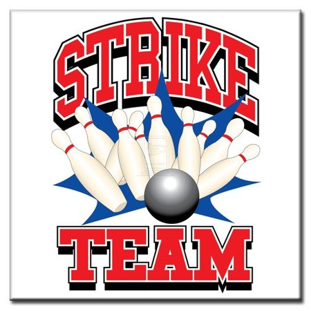 """BowlingShopEurope Bedrukte tegeltjes """"Strike Team"""""""