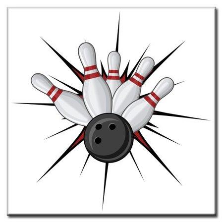 """BowlingShopEurope Bedrukte tegeltjes """"Star"""""""