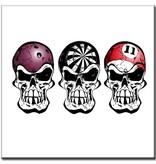 """BowlingShopEurope Bedrukte tegeltjes """"Skull"""""""