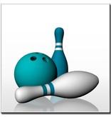 "BowlingShopEurope Fliesen ""White & Blue"""