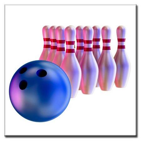 """BowlingShopEurope Bedrukte tegeltjes """"10 Pin"""""""