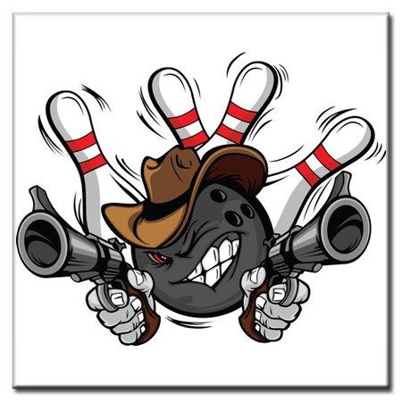 "BowlingShopEurope Tegeltje ""Gun Ball"""
