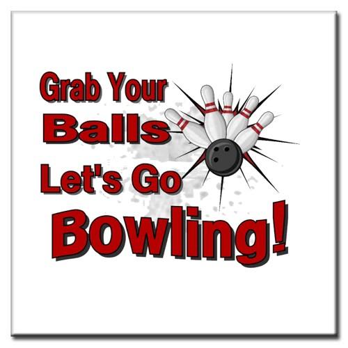 "BowlingShopEurope Bedrukte tegeltjes ""Grab your Balls"""