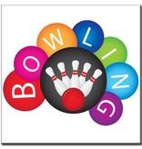 "BowlingShopEurope Bedrukte tegeltjes ""Collorfull Bowling"""