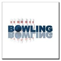 """Bedrukte tegeltjes """"Bowling"""""""