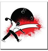 """BowlingShopEurope Bedrukte tegeltjes """"The Bowler"""""""