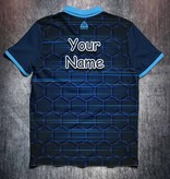 Odin Sportswear Blue Hexagon lines