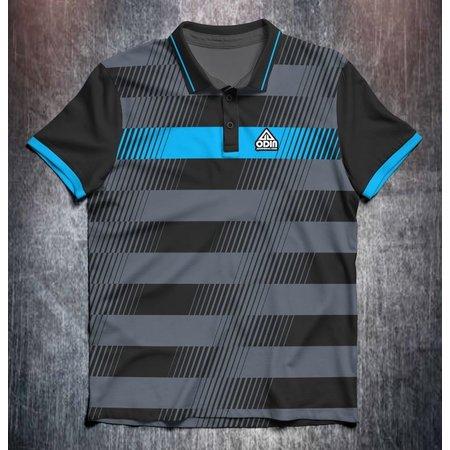 Odin Sportswear Black Grey Lines Stripes Blue