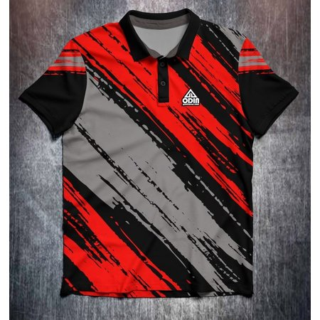 Odin Sportswear Paint strokes Red