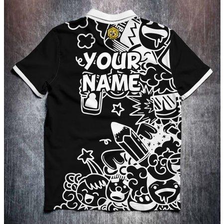 Odin Sportswear MadBee Comic doodles black white