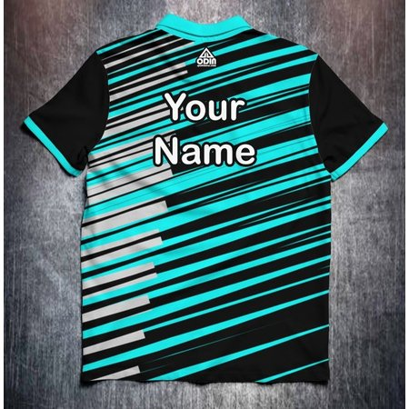 Odin Sportswear Stripes Black/Grey/Aqua