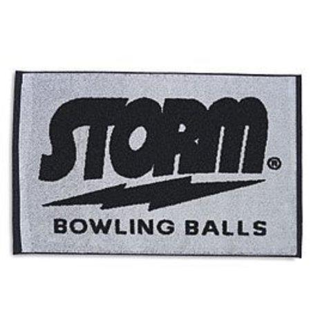 Storm Black/Grey Woven Towel