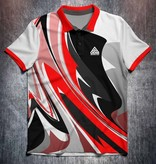 Odin Sportswear Abstract bright paint Red
