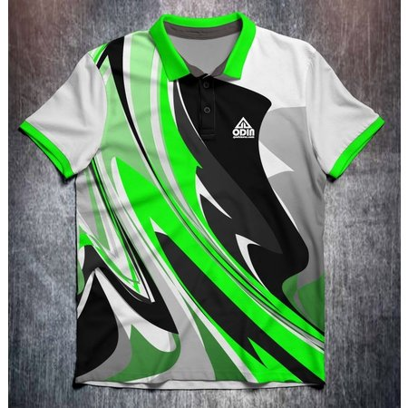Odin Sportswear Abstract bright paint Green